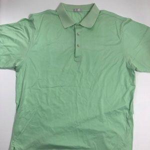 Peter Millar Mint Green Solid Polo Shirt Golf XL